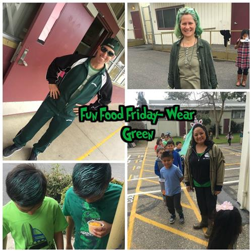 fun food friday wear green