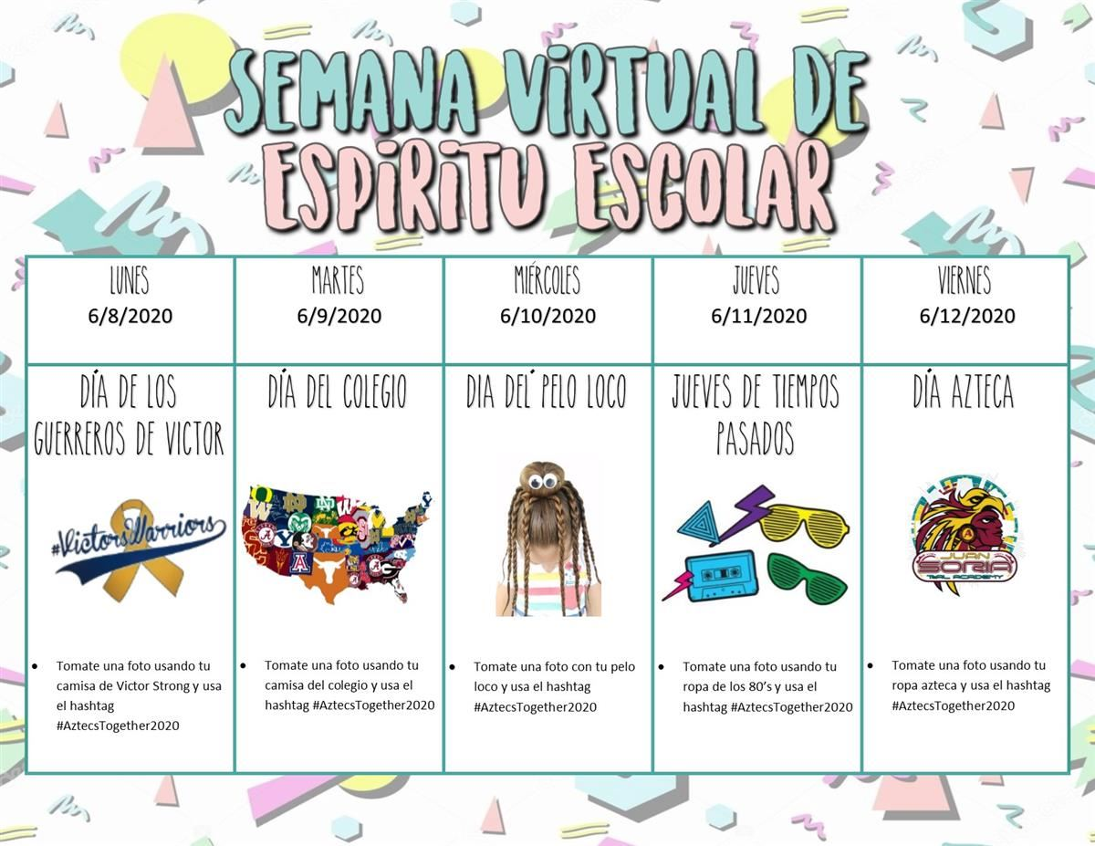 Virtual Spirit Week 10 Esp