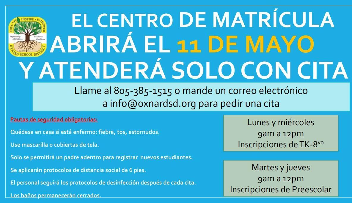 Enrollment Center Spanish