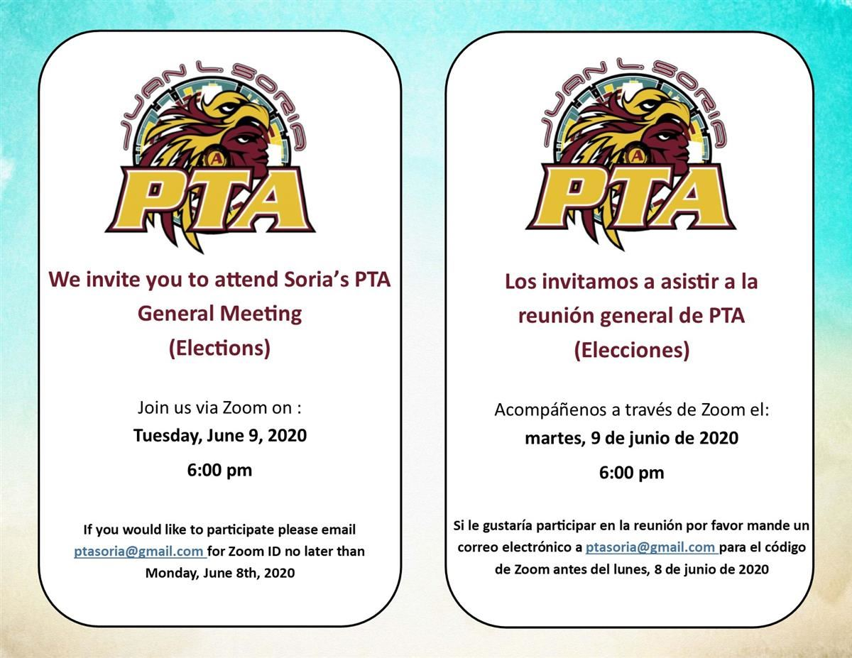 PTA Virtual Meeting