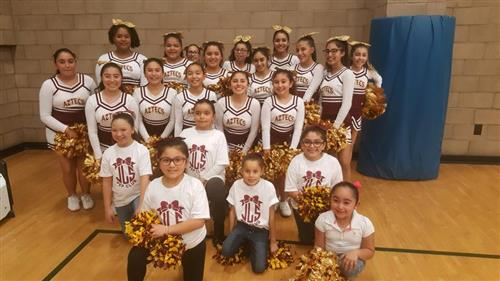 Cheer Squad with Pep Club!