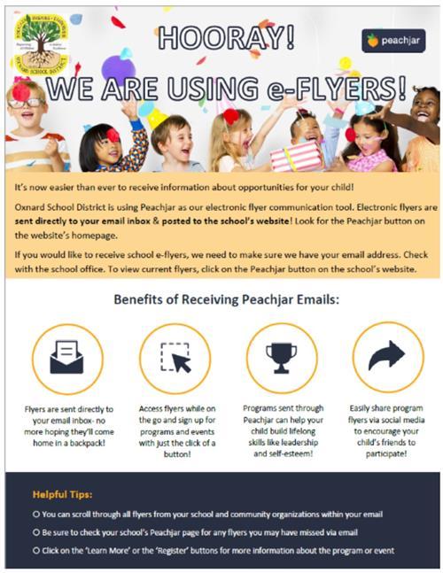 public relations public information officer digital school flyers