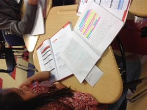Picture of student notebook highlighting methods used by AVID students